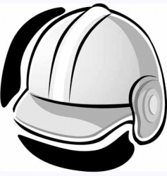 Working equipment with hat vector