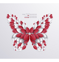 Artistic butterfly design vector