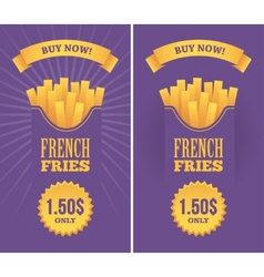 French fries banners vector