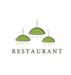 Restaurant lamps vector