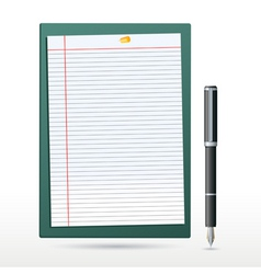 Stationery items vector