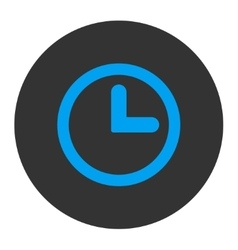 Clock flat blue and gray colors round button vector