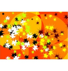 crazy abstract backgroun in orange vector image