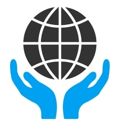 Global hands icon vector