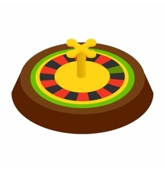 Casino symbol roulette isometric 3d icon vector