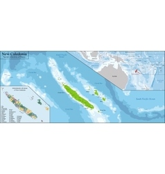 New caledonia map vector