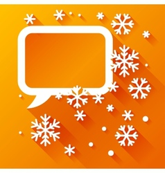 Abstract background with snowflakes in flat design vector image vector image