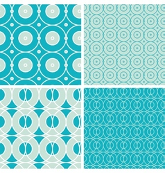 Abstract geometric circles seamless patterns set vector