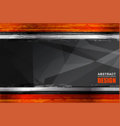 background geometric grunge vector image vector image