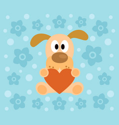 Background with funny dog cartoon vector