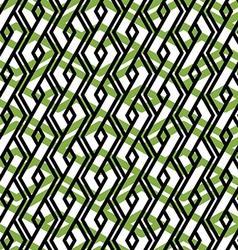 Bright rhythmic textured endless pattern green vector image vector image