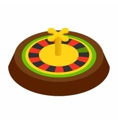 Casino symbol roulette isometric 3d icon vector image vector image