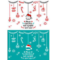 christmas design elements christmas design vector image