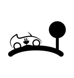 eco car symbol isolated icon vector image