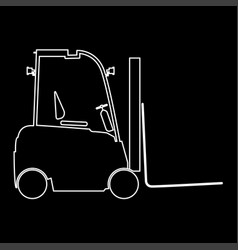 Electric loader white color path icon vector