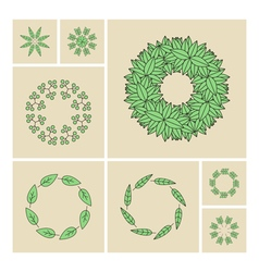 Floral elements printing for natural vector