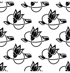 Floral seamless pattern with decorative ornate vector image vector image