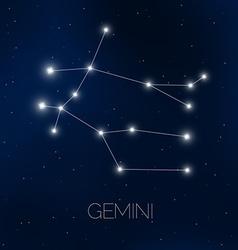 Gemini constellation vector image vector image