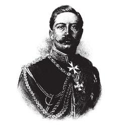 German emperor wilhelm ii vintage vector