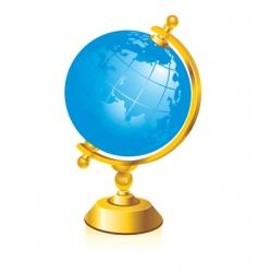 glossy globe vector image vector image