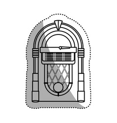 jukebox vintage rockola vector image
