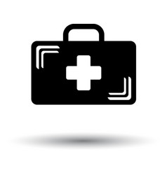 medical case icon vector image vector image
