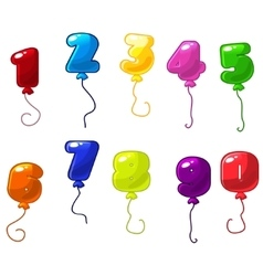 number balloons icons vector image