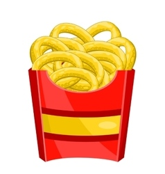 Onion rings in the pack vector