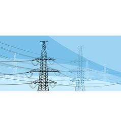 Power lines vector