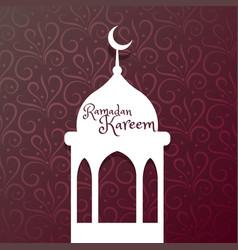 Ramadan kareem festival greeting vector