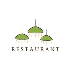 Restaurant lamps vector