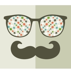 Retro sunglasses with reflection for hipster vector image