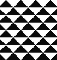 Seamless monochrome triangle pattern design vector image