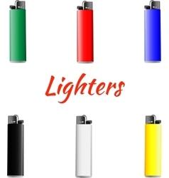 Set of lighters vector