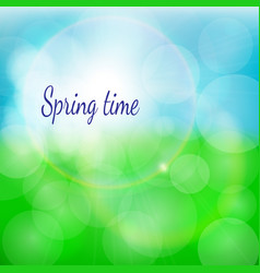 Spring natural background with bokeh and vector