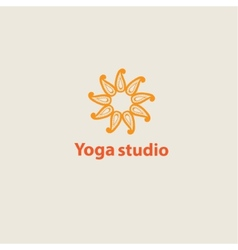 template logo for yoga studios vector image vector image