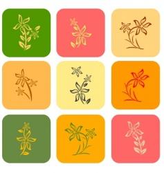 tile flower background vector image vector image