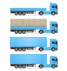 truck semi trailer 06 vector image