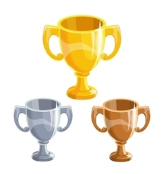 Winner cups set vector