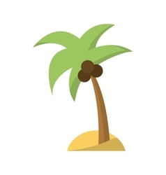 Isolated palm tree design vector