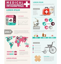 Medical healthcare worldwide research infographic vector