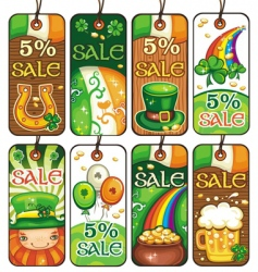 St Patrick's Day labels vector image