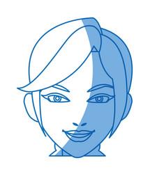 cartoon character woman face design vector image