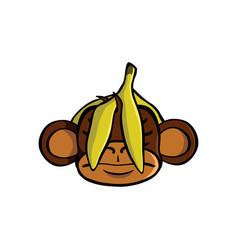 See no evil monkey vector