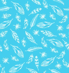 Plumage pattern blue vector