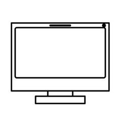 Monochrome silhouette of lcd monitor vector