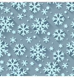 Abstract pattern with snowflakes in flat design vector