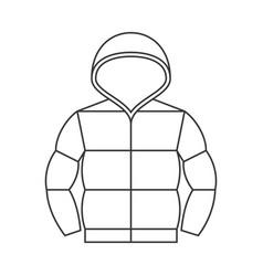 Duvet jacket with hood vector