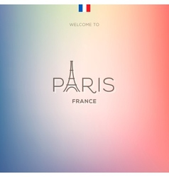 World cities labels - paris vector