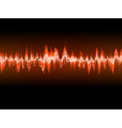 Electronic sine sound or audio waves eps 10 vector